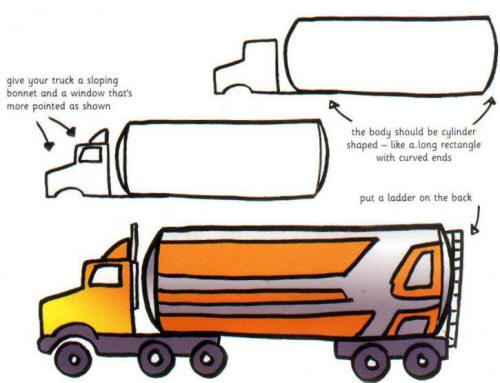 500x383 How To Draw A Big Truck For Kids Biggest Truck