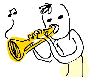 300x250 Guy Playing A Trumpet