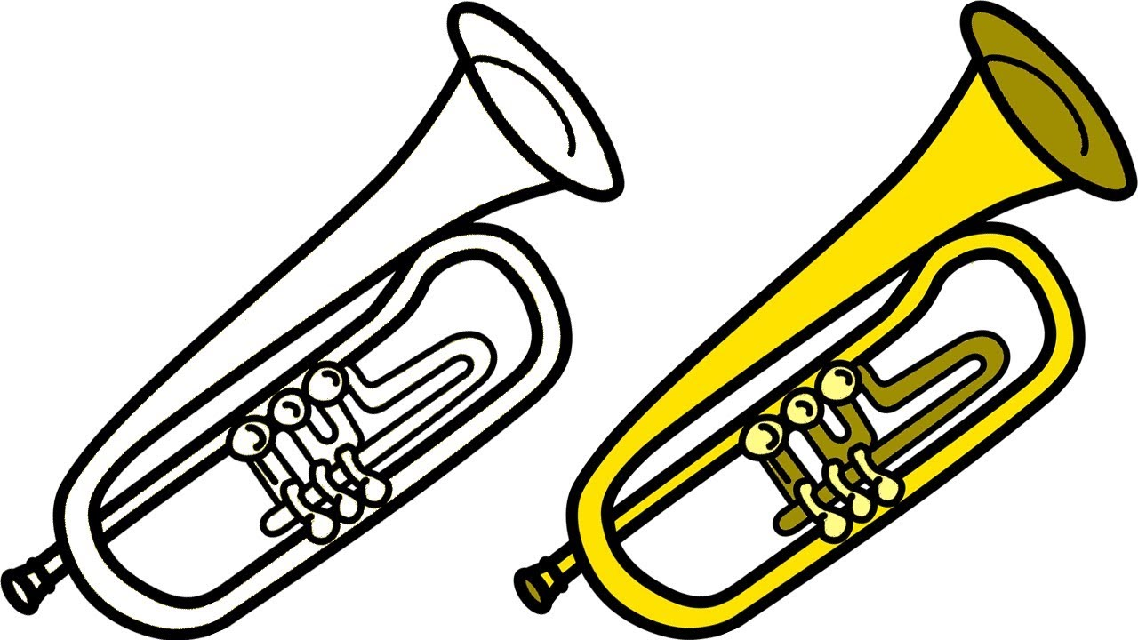 1280x720 How To Draw A Cartoon Trumpet