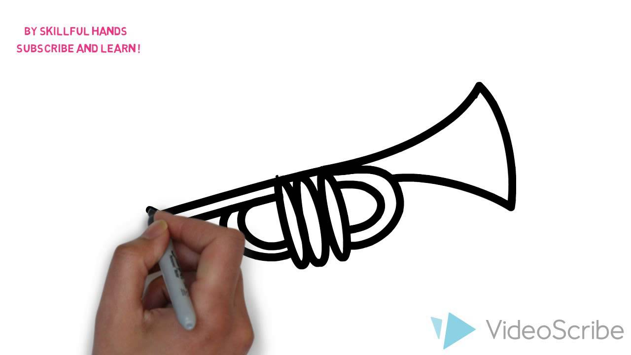 1280x720 How To Draw A Trumpet