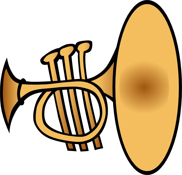 600x578 Silly Trumpet Clip Art