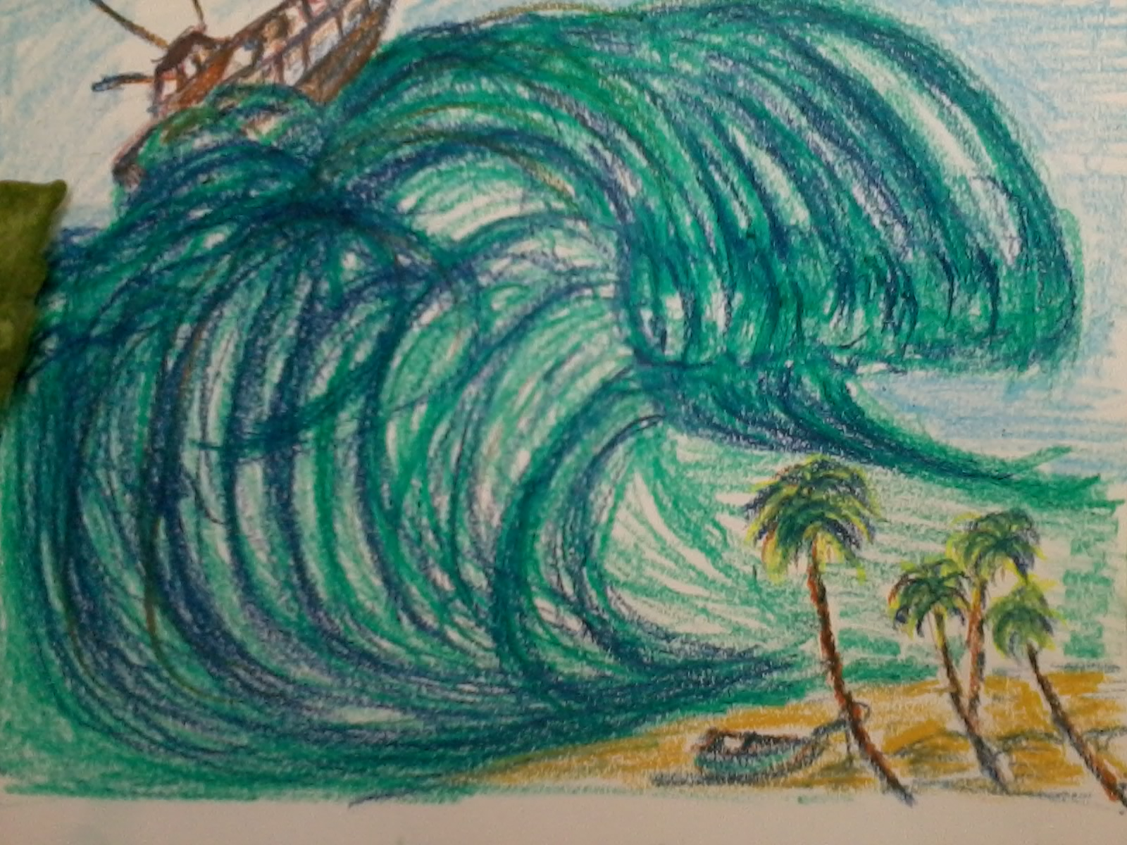 1600x1200 Chummadraw The Killer Wave Tsunami