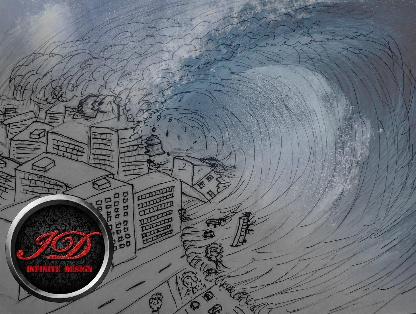1461x1102 How To Draw A Tsunami