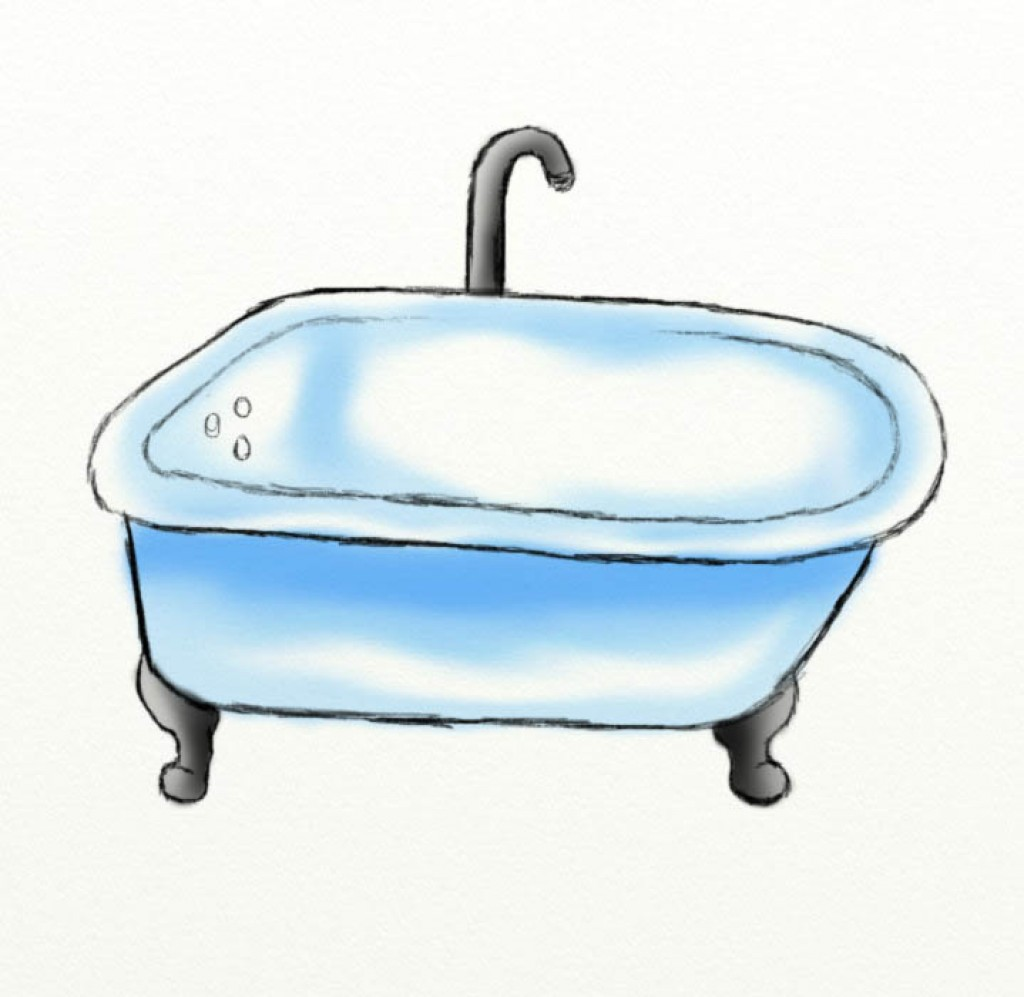 Tub Drawing at GetDrawings.com | Free for personal use Tub Drawing ...