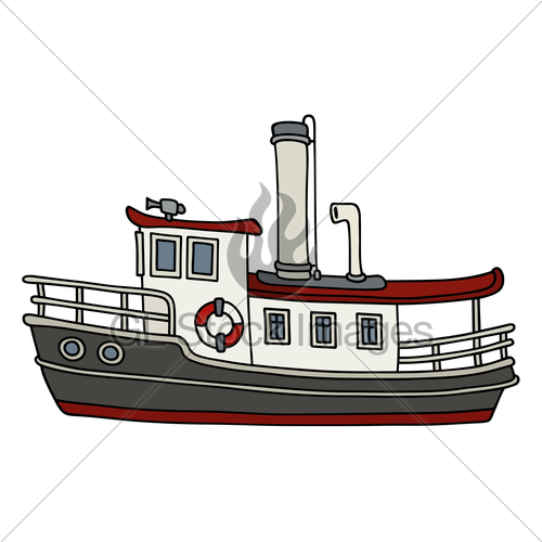 500x500 Funny Old Steamboat Gl Stock Images