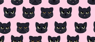 320x141 Blackcats Drawings On Paigeeworld. Pictures Of Blackcats
