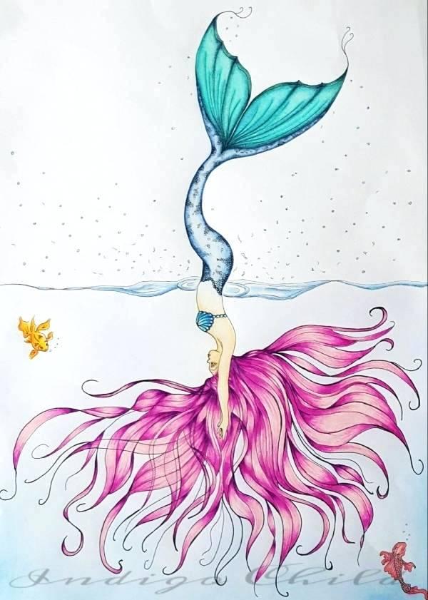 600x841 Mermaid Drawings Anime Mermaid Drawing Mermaid Drawings Tumblr Affan