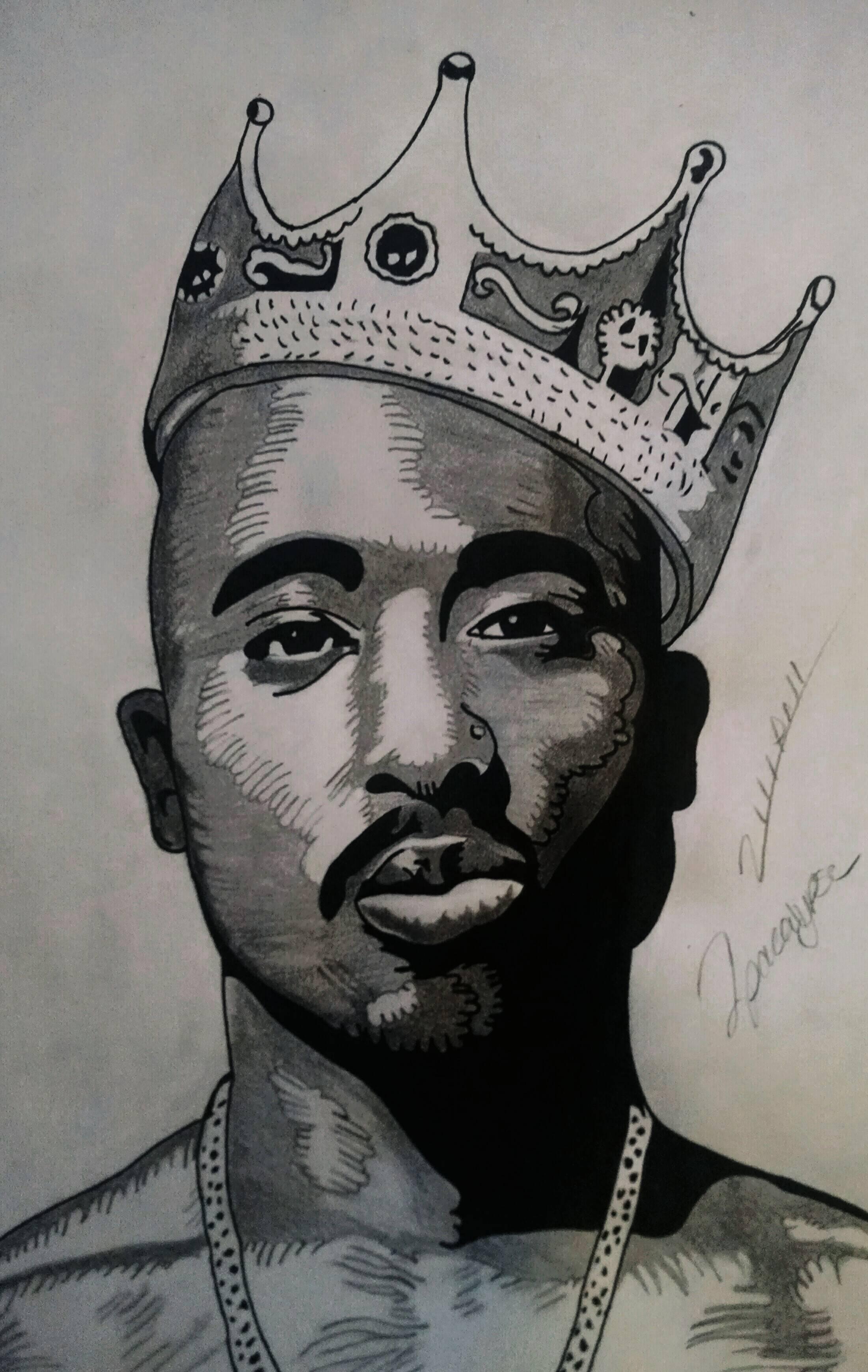 Tupac Drawing at GetDrawings   Free download