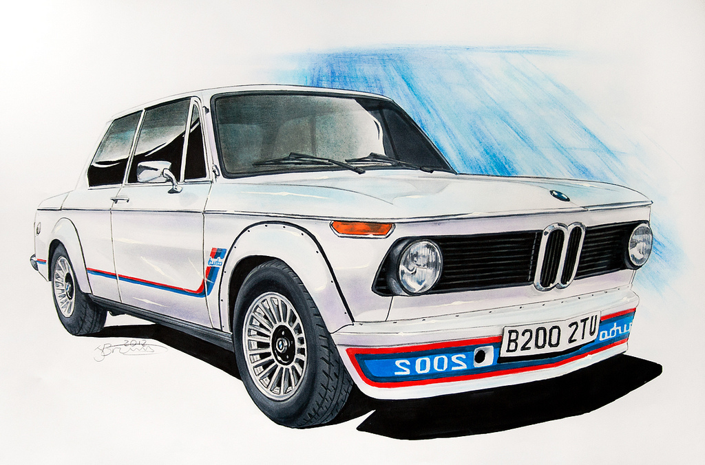 1024x676 Bmw 2002 Turbo Drawing Drawing Of A Bmw 2002 Turbo. Done