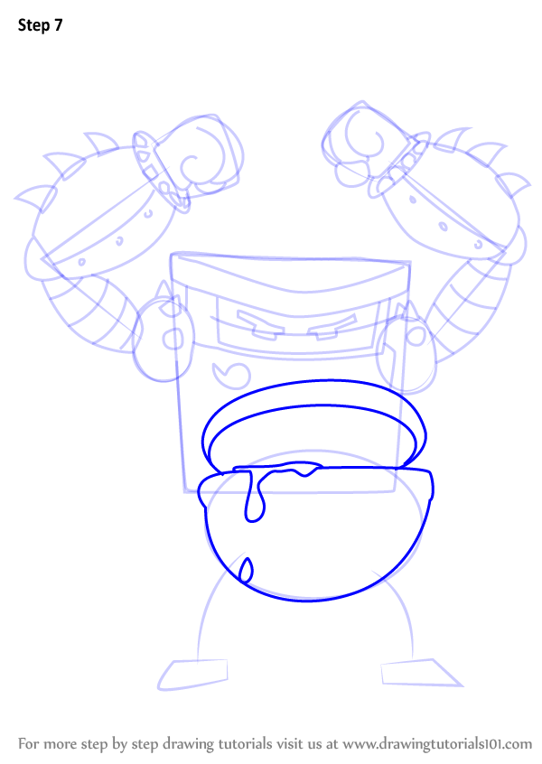 600x846 Learn How To Draw Turbo Toilet 2000 From Captain Underpants Movie