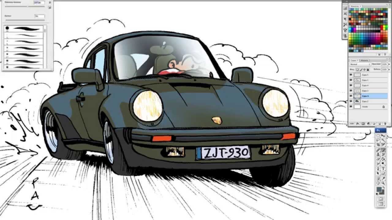 1280x720 Pau How To Draw A Porsche 911 Turbo (930)
