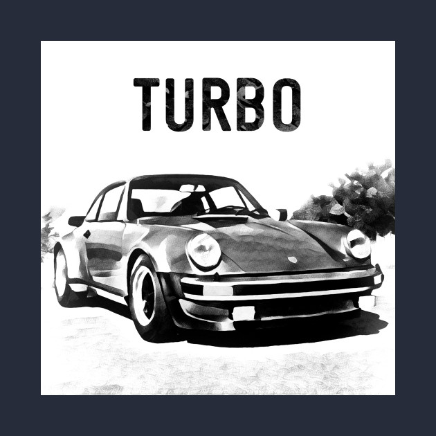630x630 Porsche 911 Turbo Drawing Effect