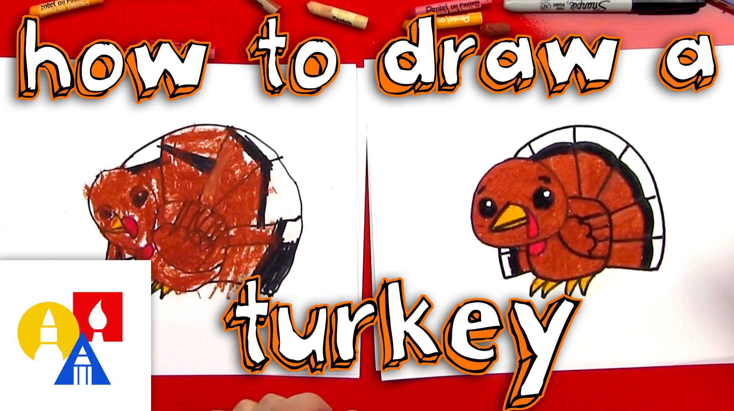 2463x1381 How To Draw A Cartoon Turkey