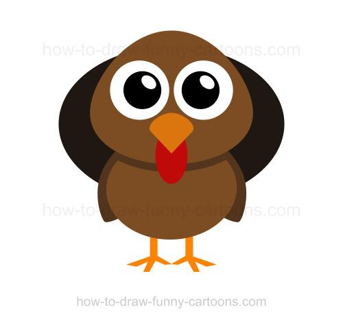 500x469 How To Draw A Turkey
