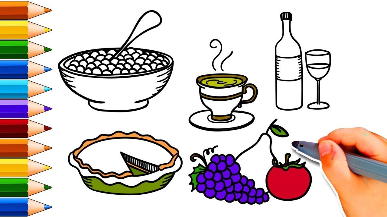 1280x720 How To Draw A Thanksgiving Dinner