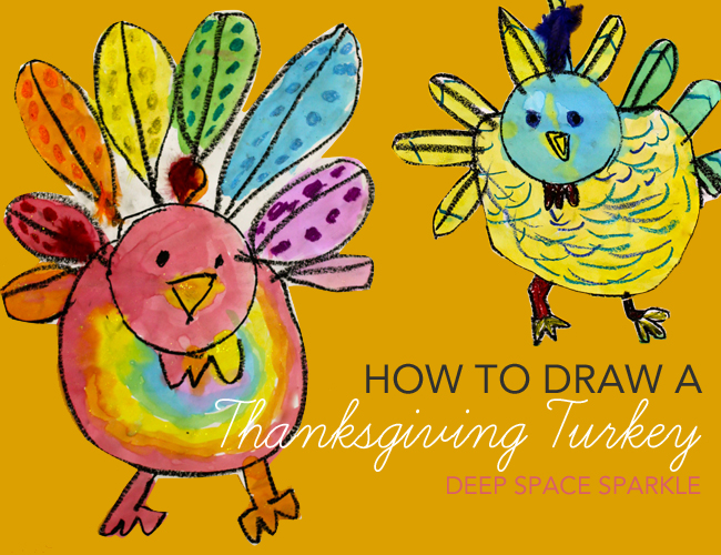 650x500 How To Draw Amp Paint A Turkey Deep Space Sparkle