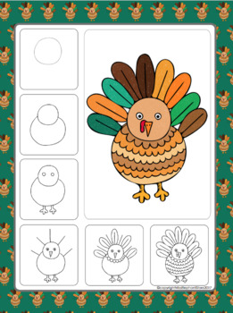 261x350 Thanksgiving Turkey Directed Drawing Kids Crafts
