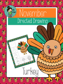 262x350 Thanksgiving Turkey Directed Drawing By Misselephant Tpt
