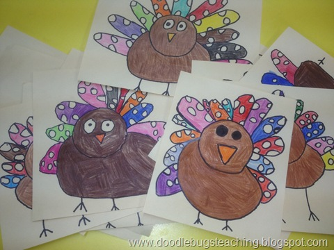 480x360 Turkey Thanksgiving Directed Drawing Craft Activities