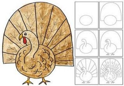 400x278 Turkey Directed Line Drawing Add Designs Make More Colorf