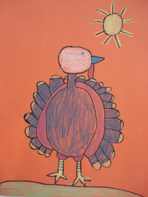 480x640 Turkey Drawing (A Faithful Attempt) Thanksgiving, Students