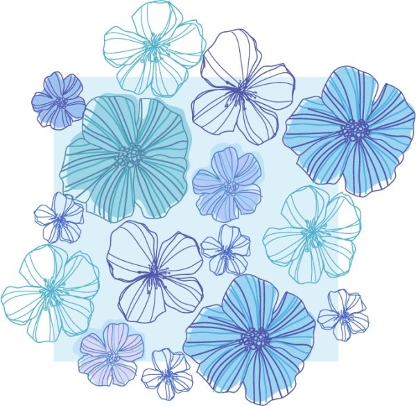 600x585 Line Drawing Flowers Vector Free Vector In Encapsulated Postscript