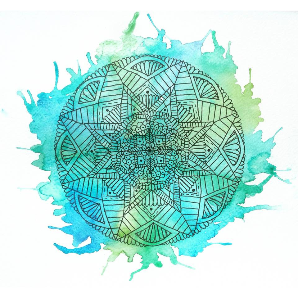 960x960 Watercolour Floral Mandala