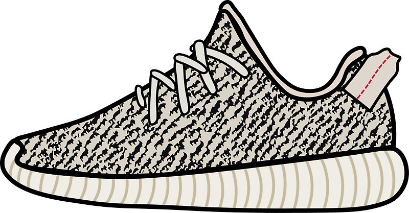 800x417 Yeezy Boost 350 Turtle Dove Stickers By Joserubio Redbubble