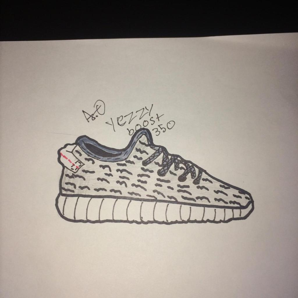 1024x1024 Yeezy 350 Boost Turtle Doves Drawing