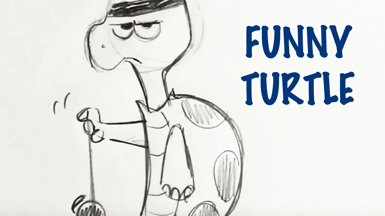1280x720 How To Draw A Funny Turtle (Step By Step)