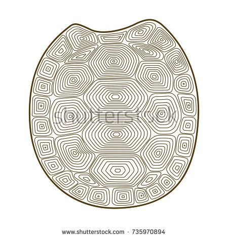 450x470 Carapace Turtle Zen Tangle. Coloring Book For Adult Wildlife