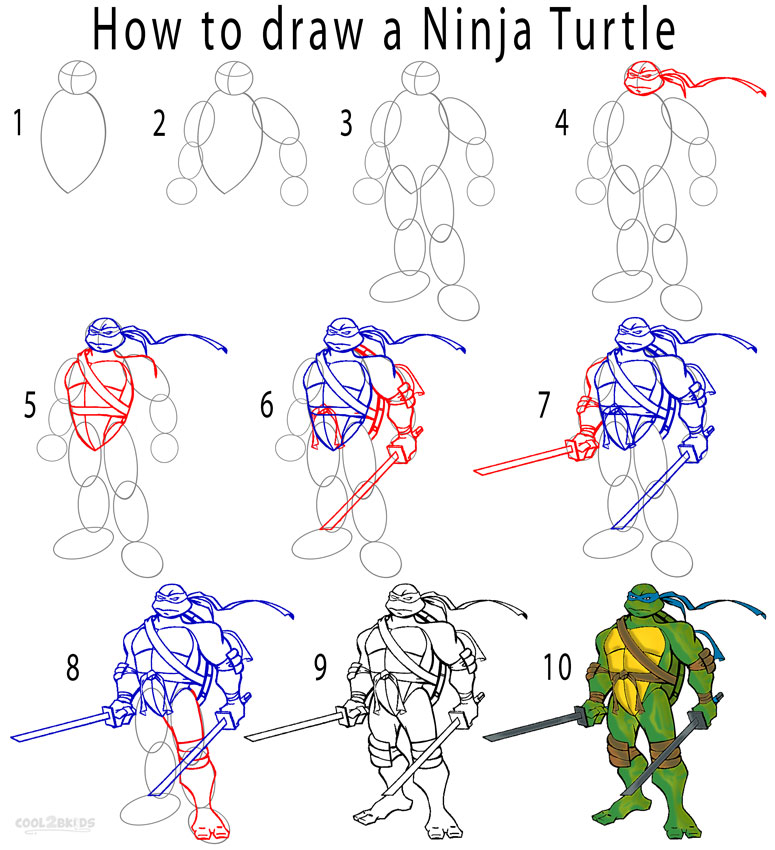 775x850 how to draw a ninja turtle step by step drawing tutorial with