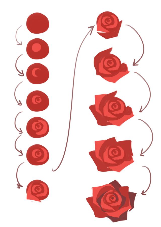 640x905 Yay I Love Roses And They Are Hard To Draw Haha