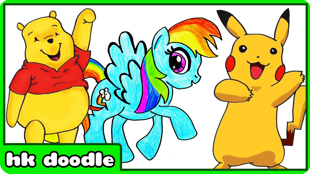 1280x720 How To Draw Popular Tv Cartoons Drawing Tutorial Compilation By