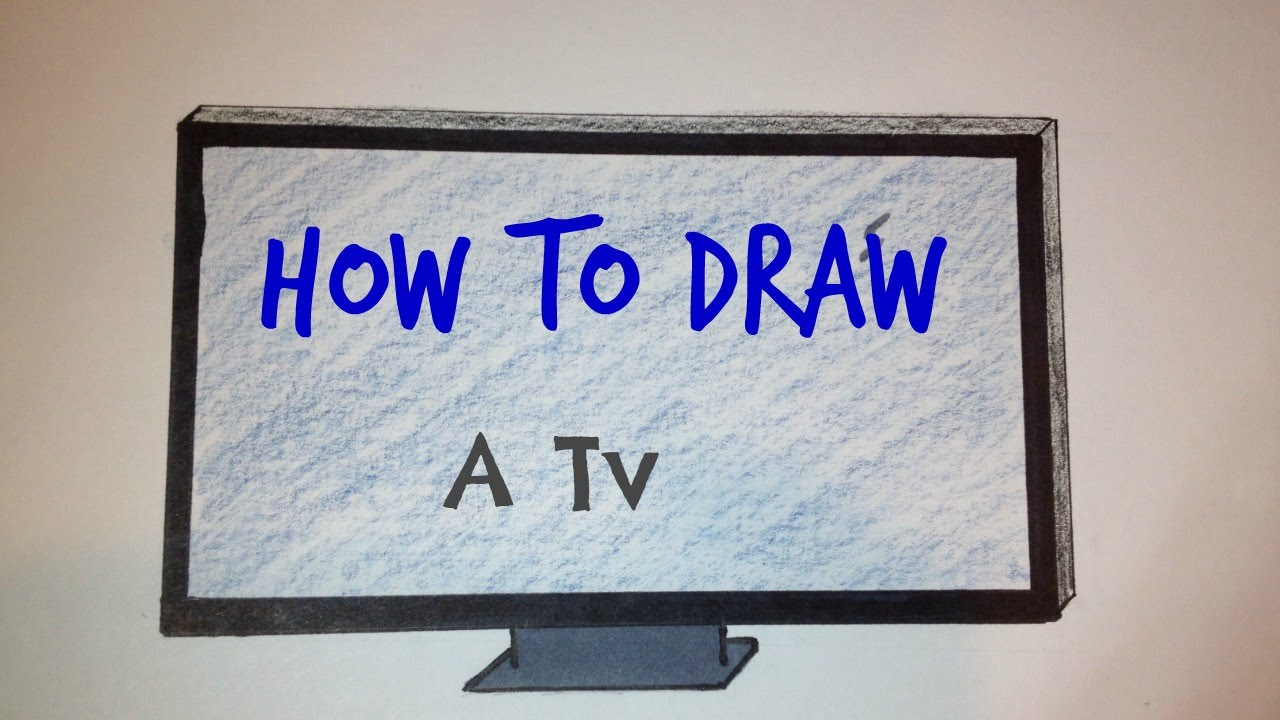 1280x720 How To Draw A Tv Simple Drawing Tutorial