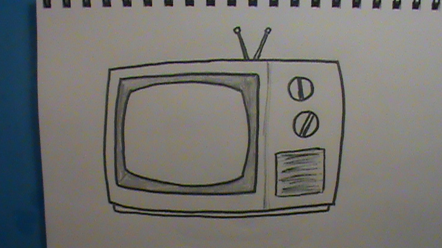 640x360 How To Draw A Tv Step By Step How To Draw Faster
