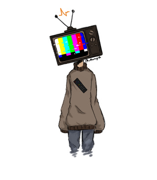 320x366 I Dunno Why Tv Heads Are So Cool, But I Just Had To Draw One.