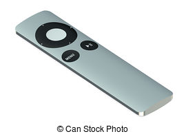 270x195 Tv Remote Control Isolated On White Background Clip Art