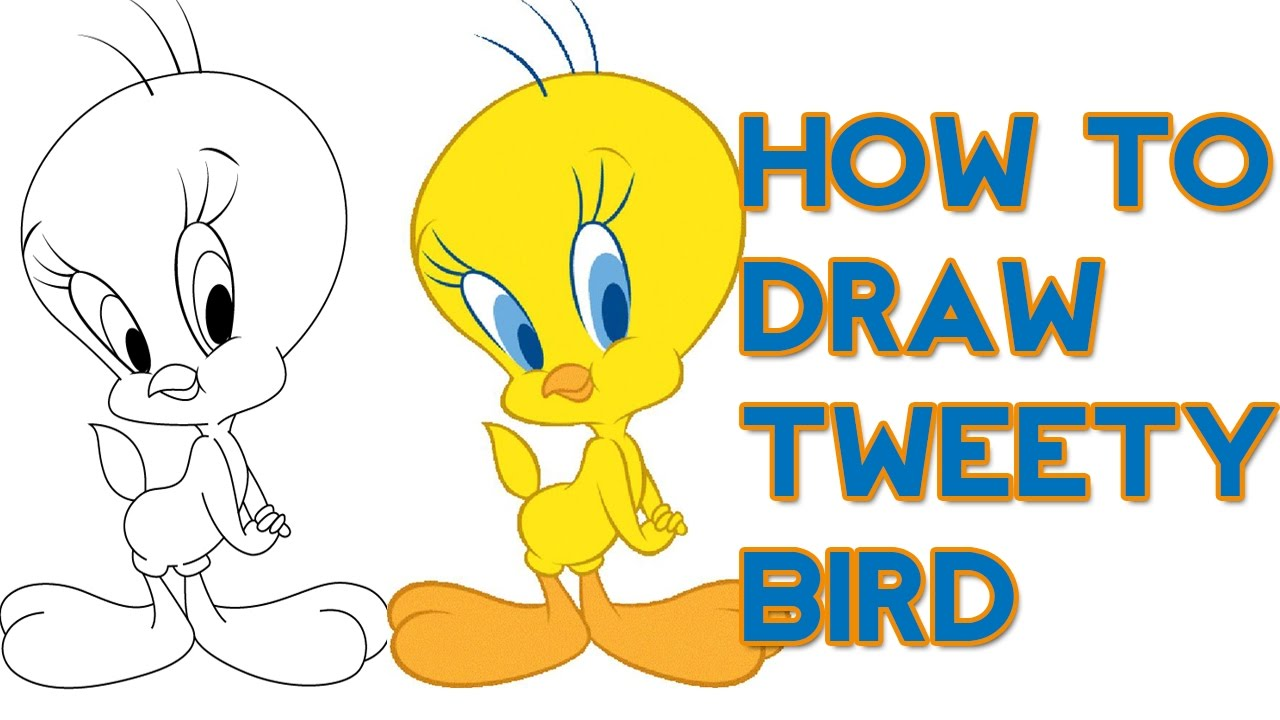 1280x720 How To Draw Tweety Bird For Kids Art For Kids Step By Step