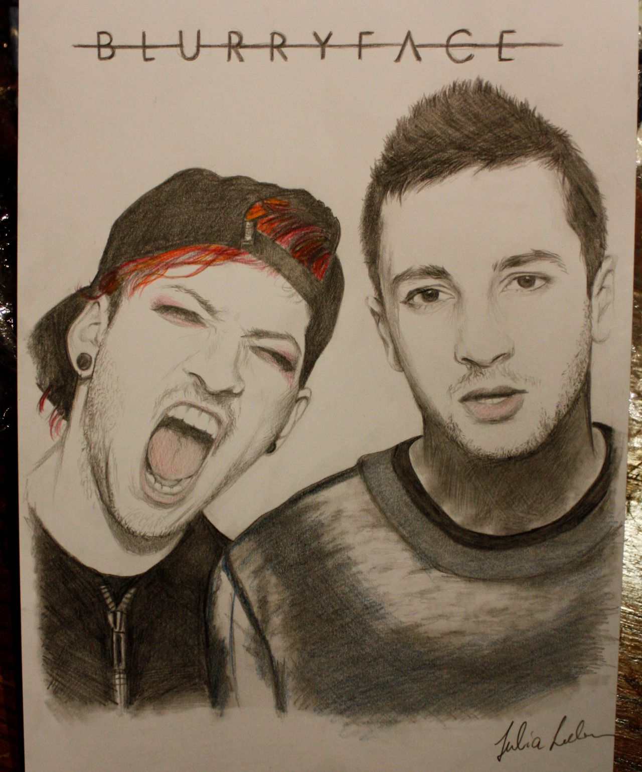 1280x1539 Twenty One Pilots Drawing