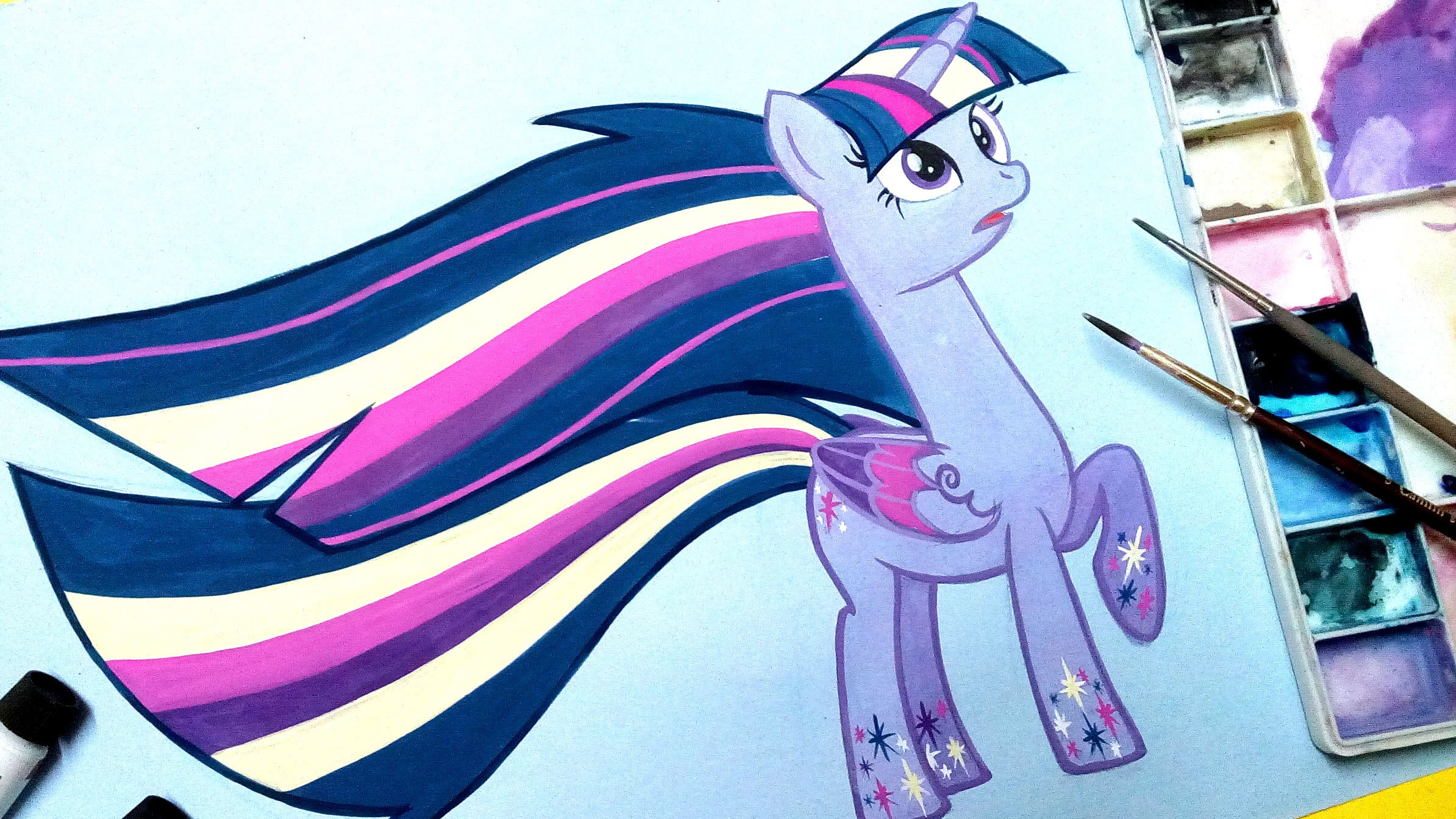 2388x1344 How To Draw Twilight Sparkle My Little Pony Rainbow Power