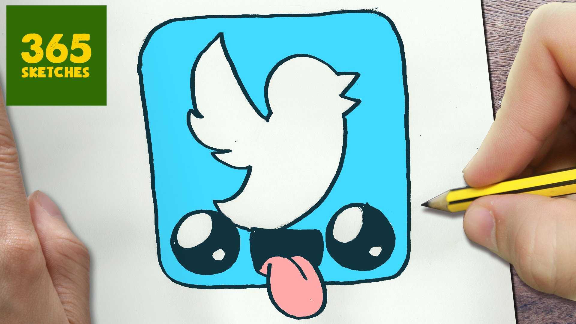 1920x1080 How To Draw A Twitter Logo Cute, Easy Step By Step Drawing Lessons