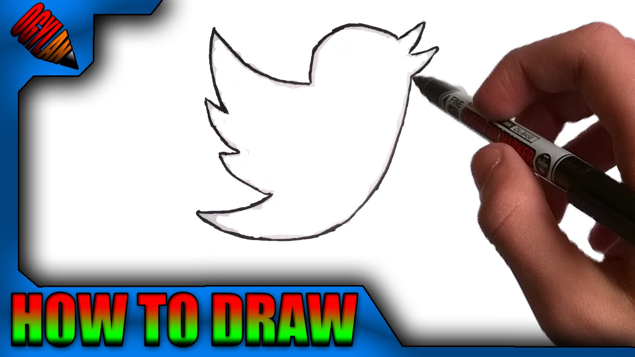 1280x720 How To Draw Easily The Twitter Logo
