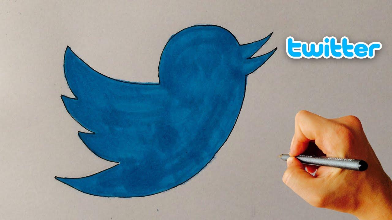 1280x720 Twitter Bird Logo How To Draw