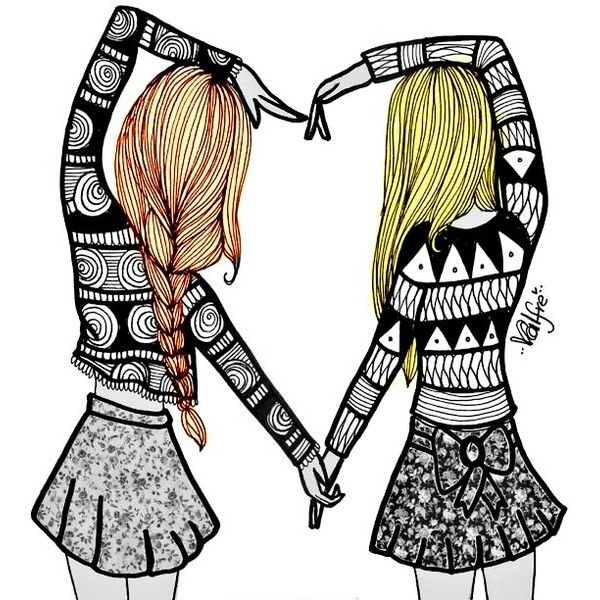 Two Best Friends Drawing at GetDrawings.com | Free for personal use ...