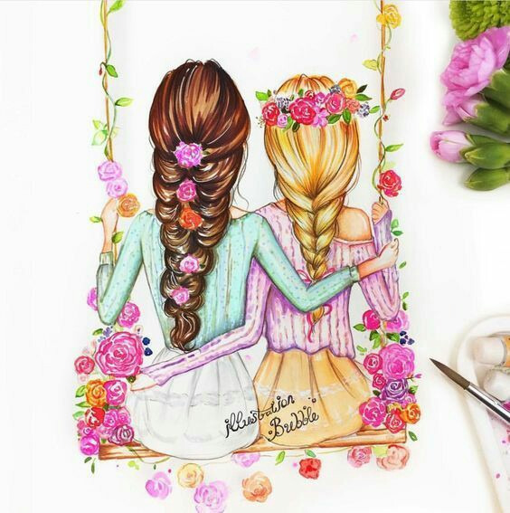 564x567 Best Friends Forever Art Friends Forever, Drawings