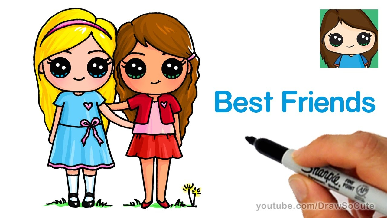 Two Best Friends Drawing at GetDrawings.com | Free for personal use