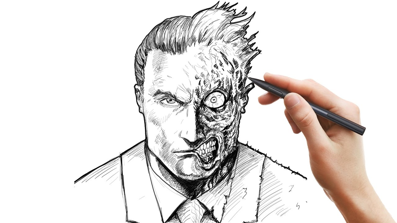 1280x720 Drawing Two Face Using Sketchbook Pro