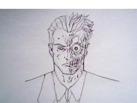 480x360 How To Draw Twoface From Batman (Detective Comics, Dc Comics