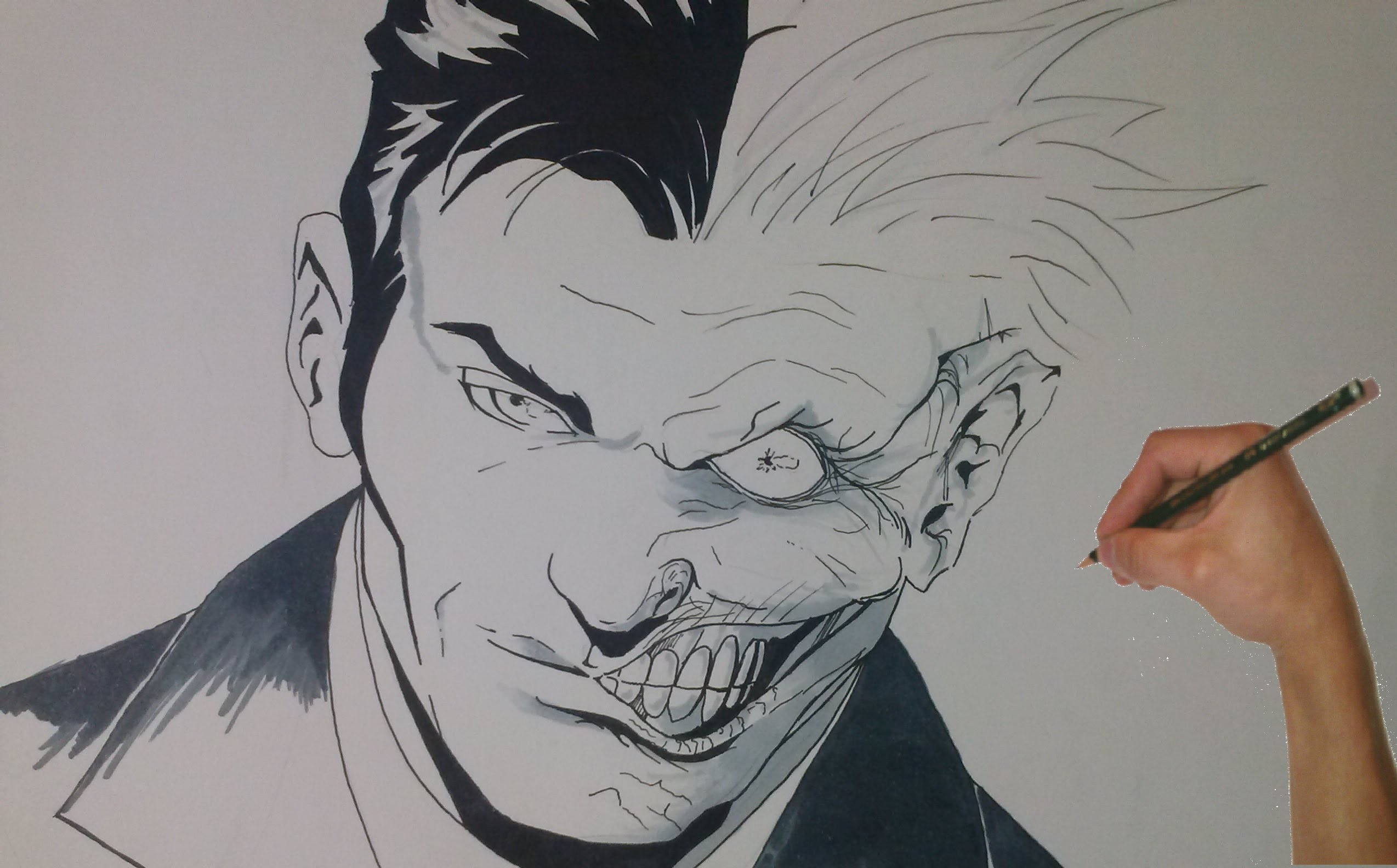 2548x1584 Speed Drawing Two Face Dc Comic
